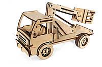 Механический деревянный 3D пазл РЕЗАНОК Автовышка 86 элементов (0006), фото 1
