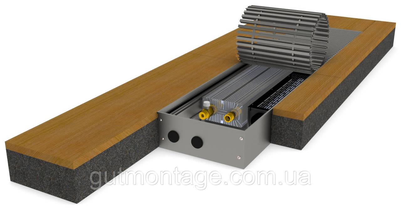 Конвектор в пол КПТ 230.2500.95DC. Энергоэффективный безопасный вентилятор постоянного тока. Монтаж в Одессе.
