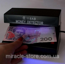 Детектор валют настільний Money Detector AD-118AB,ультрафіолетова лампа для водяних знаків, фото 2