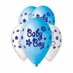 Кулі латексні на бебі шауер з малюнком Baby Boy