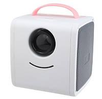 Дитячий міні проектор SUNROZ Q2 Kids Story Projector для домашнього використання Біло-Рожевий, фото 1