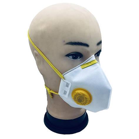 Респиратор маска РОСТОК 2 П-К с клапаном выхода степень защиты FFP2, фото 2