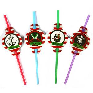 """Трубочки коктейльні з декором """"Пірати"""", 8 шт, Набор трубочек для коктейля """"Пираты"""""""