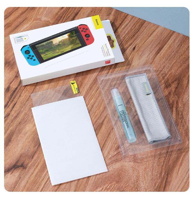 Закаленное защитное стекло Baseus для Nintendo Switch / Есть чехлы