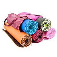 Коврик (йога мат) для йоги и фитнеса OSPORT TPE+TC толщина 8мм (FI-0112)