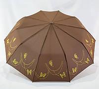 """Женский складной зонтик """"Bellissimo"""" 18309/4 полуавтомат коричневий на 10 спиц, фото 1"""