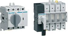 Рубильники Hager переключатели, выключатели нагрузки, ввод резерва (генератор-сеть)
