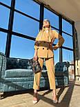 Жіночий брючний костюм: подовжений двобортний піджак та брюки з високою посадкою (3 кольори), фото 7
