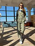Жіночий брючний костюм: подовжений двобортний піджак та брюки з високою посадкою (3 кольори), фото 6