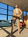 Жіночий брючний костюм: подовжений двобортний піджак та брюки з високою посадкою (3 кольори), фото 3