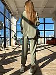 Жіночий брючний костюм: подовжений двобортний піджак та брюки з високою посадкою (3 кольори), фото 9