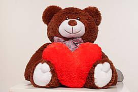 Плюшевый медведь с сердечком Yarokuz Джимми 90 см Шоколадный