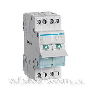 Переключатель I-0-II с общим выходом сверху, 2-пол., 25А/230В, 2м SFT225 (ввод резервного питания)