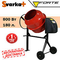 Бетономешалка FORTE EW9180P  ( 800 Вт, 180 л. )