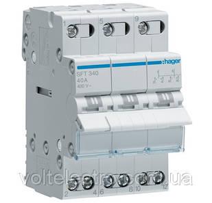 Переключатель I-0-II с общим выходом сверху, 3-пол., 40А/400В, 3м SFT340 (ввод резервного питания)