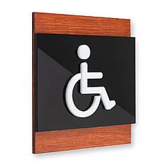 Таблички на двері туалету для інвалідів