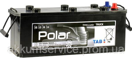 Акумулятор автомобільний TAB Polar Truck 150AH 3+ 1000A (489912)