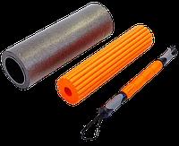 Роллер массажный 3 в 1 Zelart Yoga Roller 16,5*45 см (роликовый массажер, 2 роллера для массажа и йоги), фото 1