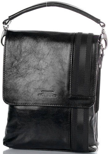 Эстетичная мужская кожаная сумка ETERNO (ЭТЕРНО) ETMS4130 ( черная)