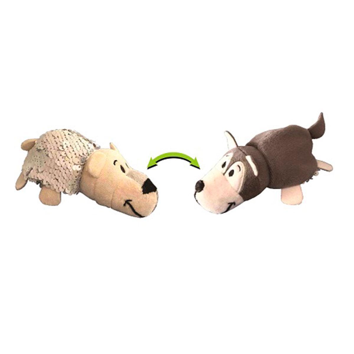 М'яка Іграшка з паєтками 2 В 1 - ZooPrяtki - Хаскі-Полярний Ведмідь (12 Cm)