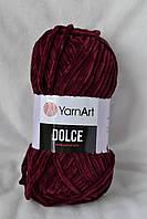 Плюшевая пряжа YarnArt Dolce, бордо, 752