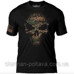 Футболка Дух воїна 7.62 Design USMC Woodland MARPAT Skull
