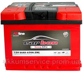 Аккумулятор автомобильный Carbon 66AH R+ 650A (CRB66-00)
