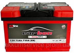 Аккумулятор автомобильный Carbon 75AH R+ 720A (CRB75-00L) низкий