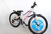 """Велосипед горный женский 26"""" Discovery Kelly AM DD 2020, стальная рама 13.5"""" бело-фиолетовый с оранжевым"""
