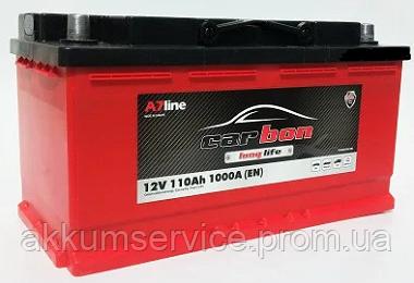 Акумулятор автомобільний Carbon 110AH R+ 1000A (CRB110-00)