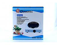 Електроплита портативна Domotec MS 5821 диск, 1000 Вт, п'ять режимів, від мережі, Електричні плити