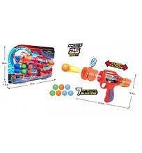 6079B Игрушка Помповое оружиесупергерои с шариками 2в.кор.37*4*26