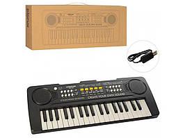BF-420 Игрушка Синтезатор 37клавиш, запись, демо, USBзарядное, кор 43-17-6см