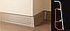 Плинтус Dekor Plast LL004 Аруша Светло-серыйп ластиковый,напольный двухсостовной с кабель-каналом, фото 2