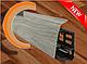 Плинтус Dekor Plast LL004 Аруша Светло-серыйп ластиковый,напольный двухсостовной с кабель-каналом, фото 10
