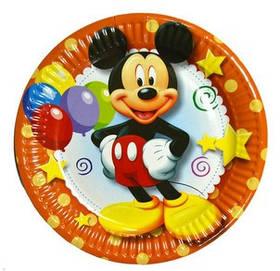"""Тарілки паперові """"Міккі Маус"""", 10 шт, Набор тарелок """"Микки Маус"""""""
