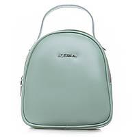 Женская сумка-рюкзак из натуральной кожи мятного цвета