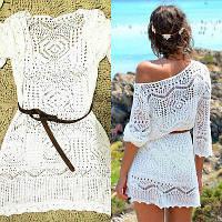 Женская легкая платье, пляжная туника M, L