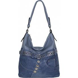 Сумка женская №87221 джинс Голубой #M/K