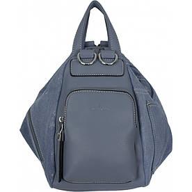Сумка-рюкзак женская №87159 джинс Голубой #M/K