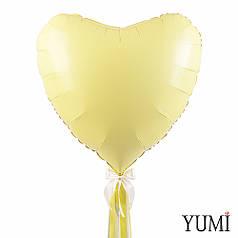 Айвори сердце 90 см с декором лентами