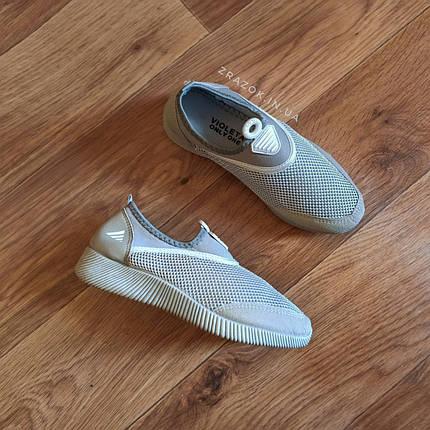 Сірі аквашузы жіночі срібні аква взуття кросівки шкарпетки сліпони мокасини коралки без шнурків, фото 2
