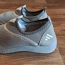 Серые аквашузы женские серебряные аква обувь кроссовки носки слипоны мокасины коралки без шнурков, фото 3