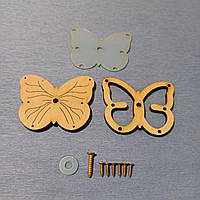 Заготовка для бизикубика, Пересыпучка Бабочка, Полная комплектация (Крутится) бизикуб