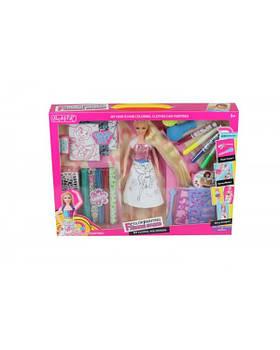 "Кукла типа ""Барби""Модельер"" 905 24шт/2 платье-раскраска, флом-ры, трафареты лоскуты, в кор.44*6*33"