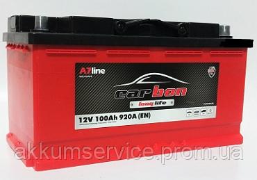 Аккумулятор автомобильный Carbon 100AH R+ 860A (CRB100-L4-00) L4 короткий
