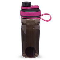 Шейкер для спортивного питания SPORTS 1005 (пластик, 700мл, прозрачный-оранжевый)