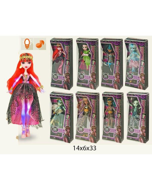"Кукла ""Monster High"" 2076 8 видов, муз, свет, в кор.14*6*33см"