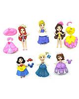"""Кукла """"Принцесса Диснея"""" 0007 6 кукол в упаковке, в пак. 9,5см"""