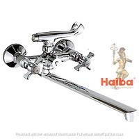 Смеситель для ванны с душем HAIBA ZEUS 140 EURO резина